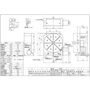Поворотный стол CNC-1000HV, схема