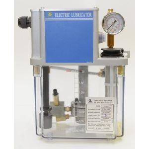 Импульсная станция смазки CEN03 (управление от ЧПУ, датчик уровня масла, реле давление настроено на 8 кг/см2, макс. производительность 130 см3/мин, макс. давление 15 кг/см2, объем бака от 2 до 8л, напряжение питания 110 или 220В).