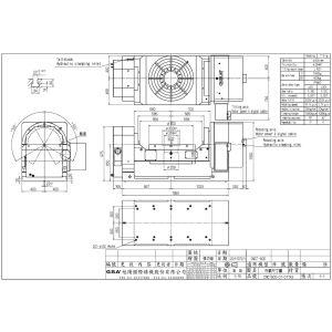 Поворотный стол CNCT-800, схема
