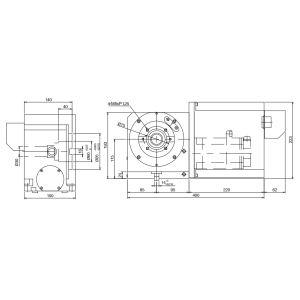 Поворотные столы CNC-120R, схема