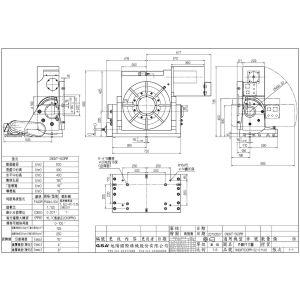 Поворотный стол CNCMT-500, схема