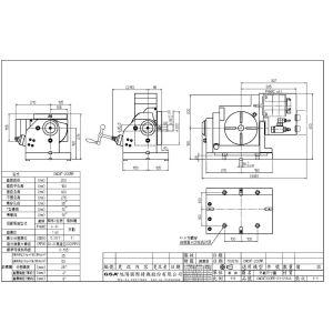 Поворотный стол CNCMT-200, схема