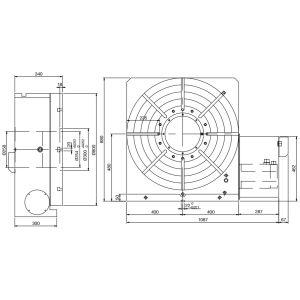 Поворотный стол CNC-800R, схема