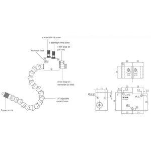 Распылительные системы для микрообработки JTF-002, чертеж