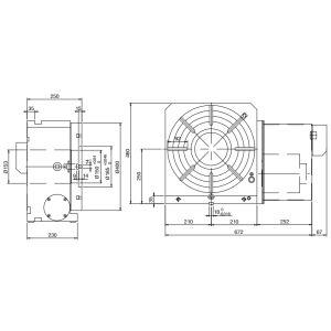 Стол CNC-400R, схема