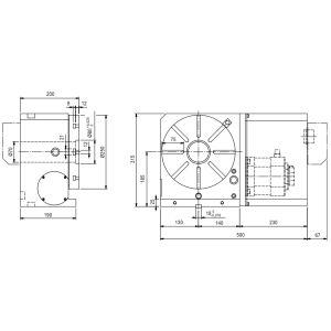 Поворотные столы CNC-250R, схема