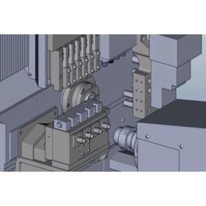 Прутковый токарный станок с противошпинделем, структура