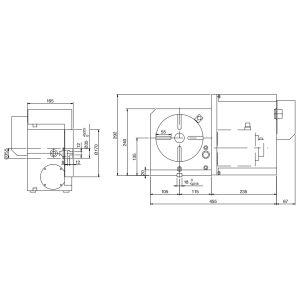 Стол CNC-170R, схема