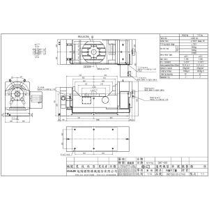 Поворотный стол CNCT-630, схема