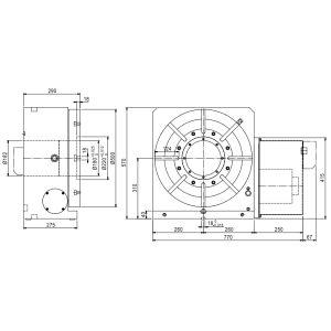 Стол CNC-500R, схема