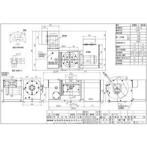 Поворотный стол CNCT-100, схема