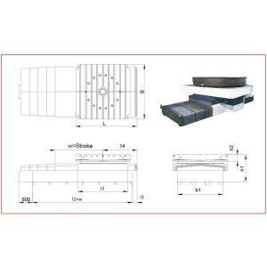 Поворотный стол для станка ЧПУ RLT-1500, устройство