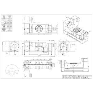 Поворотный стол CNCT-320RS, схема