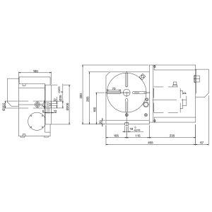 Стол CNC-200R, схема