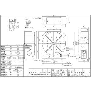 Поворотный стол CNC-1200HV, схема