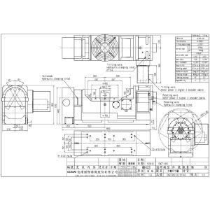 Поворотный стол CNCT-450, схема