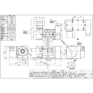 Поворотный стол CNCT-320, схема