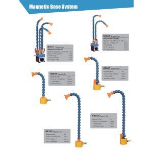 Возможные варианты комплектов для подачи СОЖ на магнитном основании