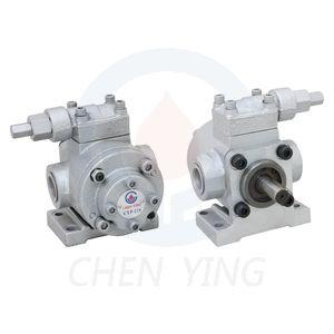 Масляные насосы с высокой производительностью CYP-204~210 (производительность 7,5-41,5 л/мин, макс. давление 20 кг/см2). Дополнительно может быть оснащен регулятором давления CYP-HA (диапазон регулирования 0-10 кг/см2). Насос может быть поставлен в сборе с двигателем мощностью 0,37 ~ 2,2кВт.