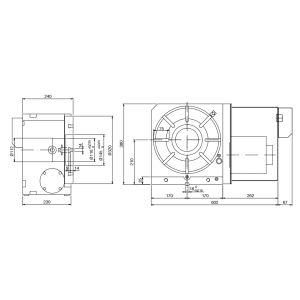 Поворотные столы CNC-320R, схема