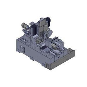 Прутковый токарный станок с противошпинделем, устройство